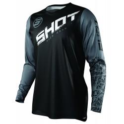 SHOT SLAM MX dres čierno/šedý